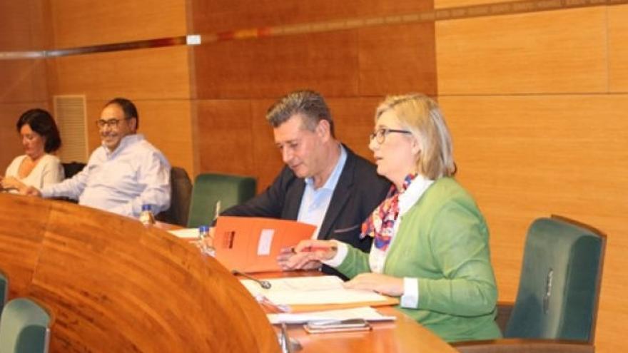 José Enrique Aguar, en su escaño de la Diputación de València