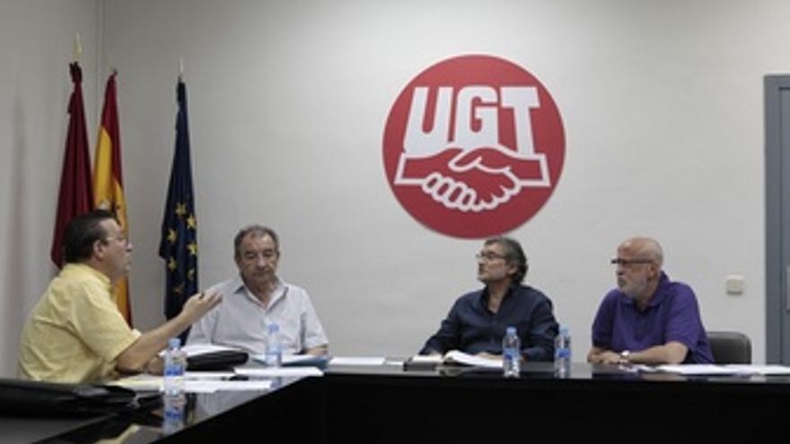 El presidente de la FEEM, Antonio Martín Cabanillas en la sede de UGT