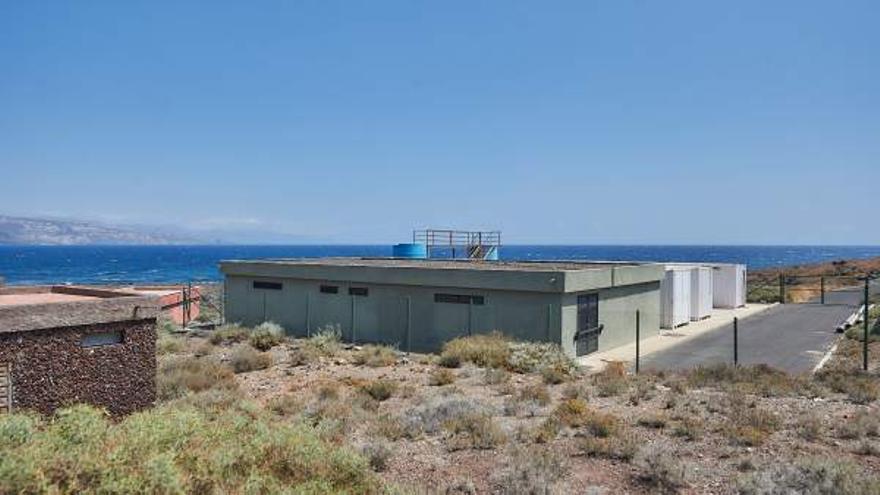 Lugar costero de Arafo donde se ubicará la planta EDARI y ahora está la ETAR con conexión al emisario submarino