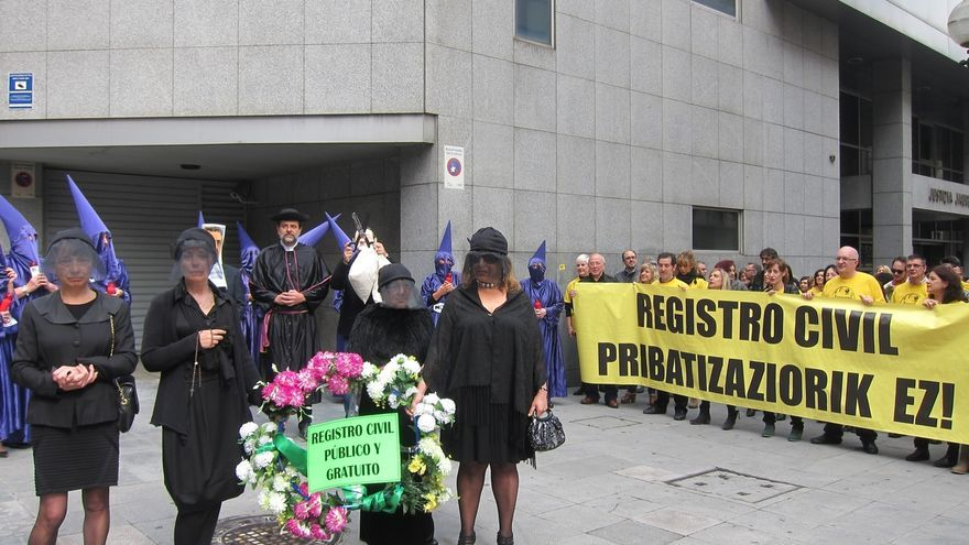 """Trabajadores de Justicia advierten de que la privatización del Registro Civil traerá """"amortización de empleo público"""""""