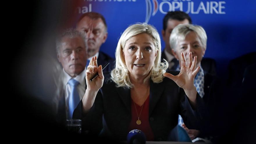 La líder de la extrema derecha francesa, Marine Le Pen. EFE/EPA/SEBASTIEN NOGIER/Archivo