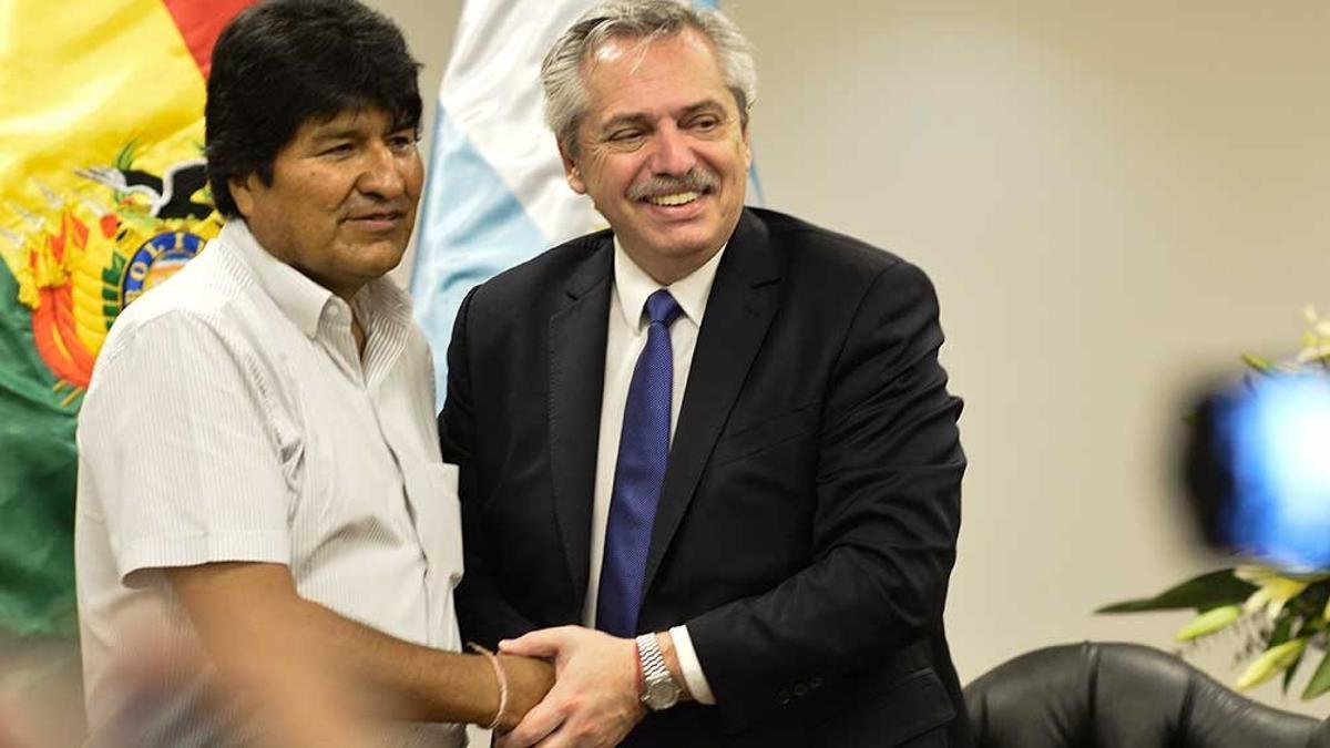 Evo Morales y Alberto Fernández.