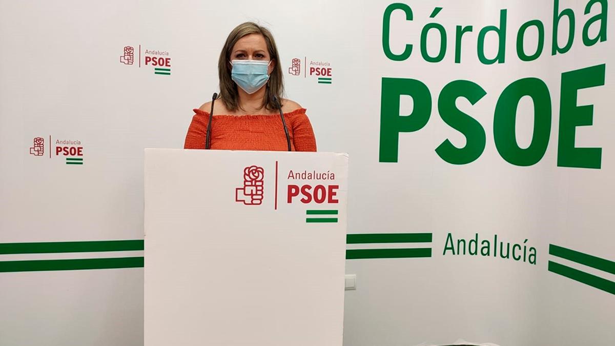 La secretaria de Política Municipal del PSOE-A, María Jesús Serrano.