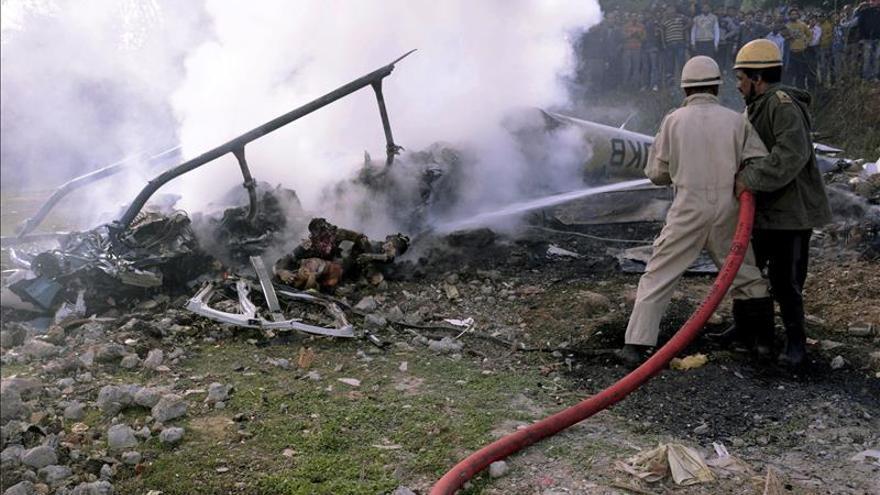 Siete muertos en un accidente de helicóptero en el norte de la India