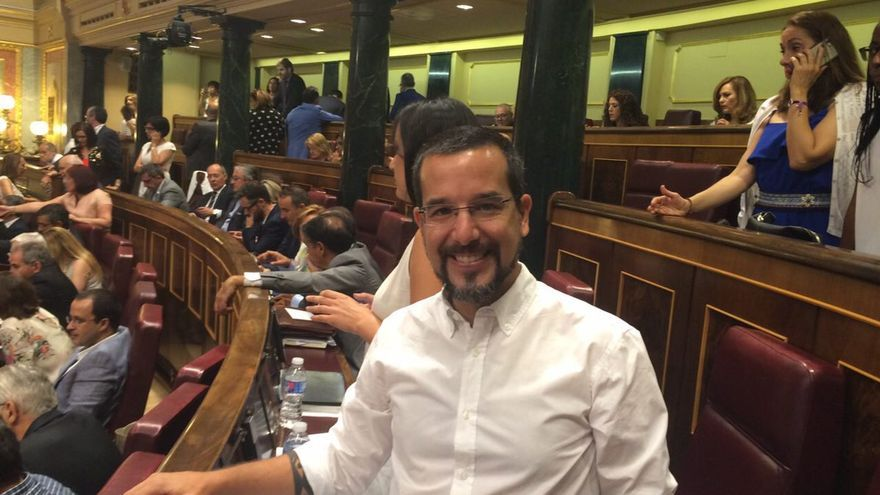 Sergio Pascual en el Congreso de los Diputados.