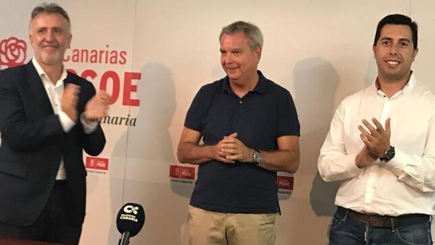 Imagen de archivo de los socialistas Ángel Víctor Torres, Chano Franquis y Alejandro Ramos.
