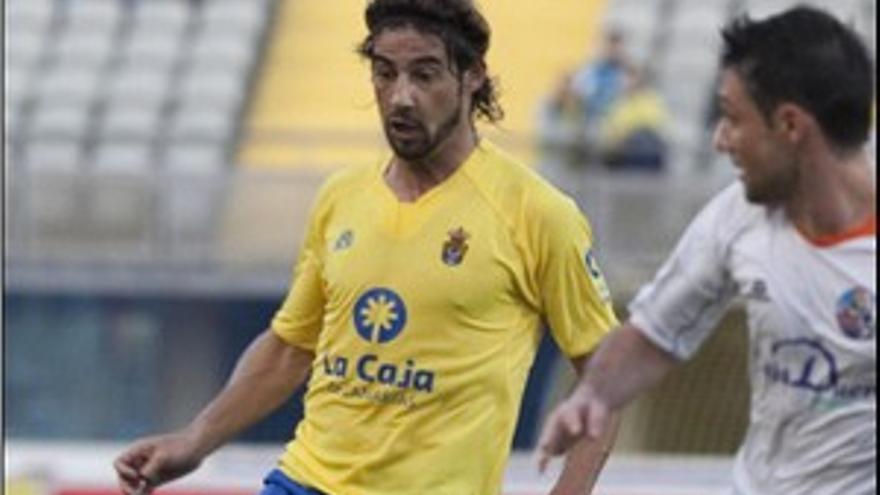 Marcos Márquez, en el partido de la pasada temporada ante la UD Salamanca. (ACN PRESS)