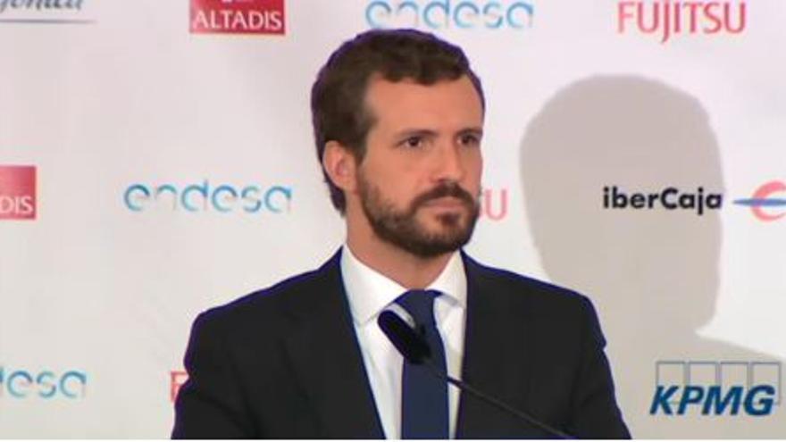 Pablo Casado en los Desayunos Informativos de Europa Press