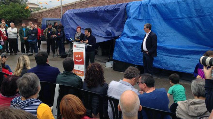 Los consellers Vicent Marzà y Rafa Climent intervienen en el 'Aplec del Puig' de este 25 de octubre