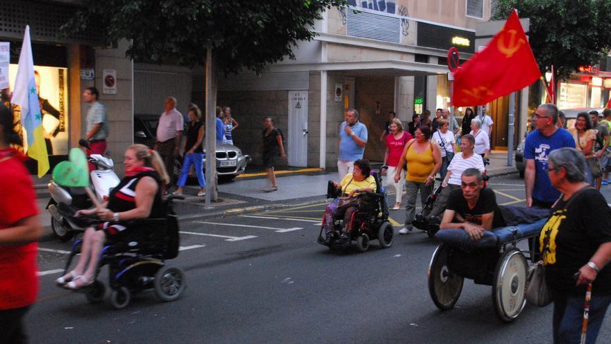Manifestación contra las prospecciones en Las Palmas de Gran Canaria.