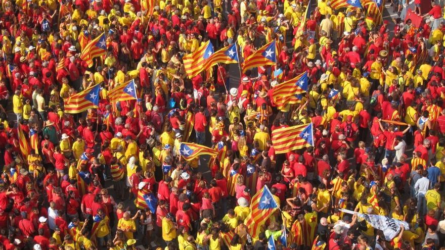 La Via Lliure moviliza a los independentistas al inicio de una campaña que ven clave