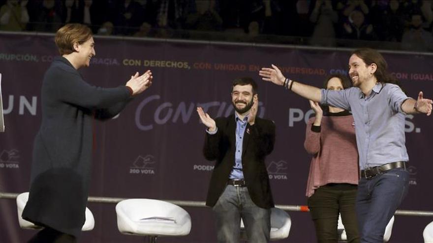 Podemos toma impulso en Madrid con el 'tirón' de Ada Colau