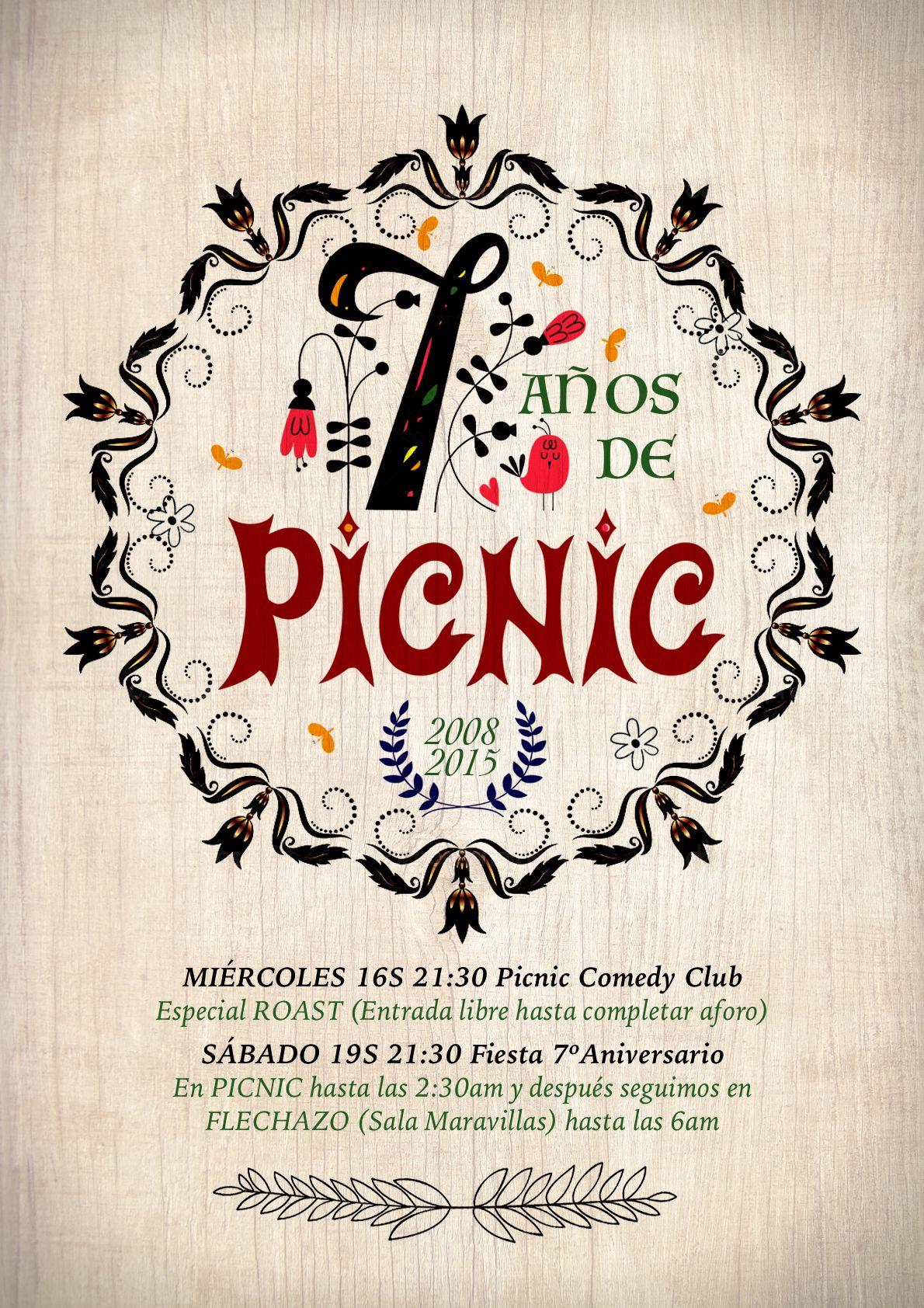Cartel aniversario picnic