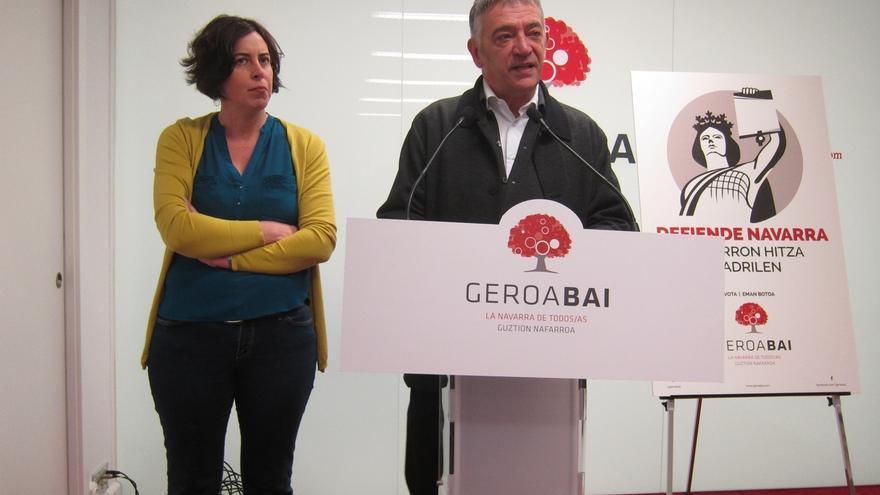 """Geroa Bai quiere llevar a Madrid el """"modelo de cambio de Navarra"""", centrado """"en lo social"""""""