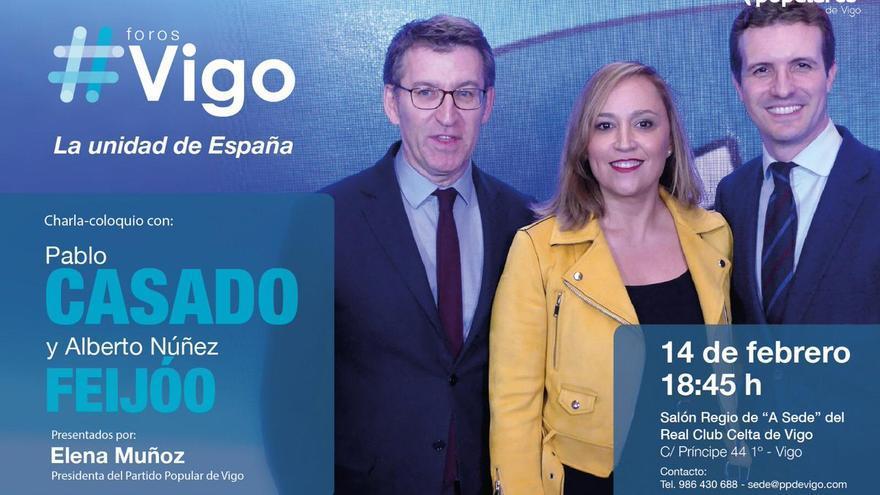 Acto de Feijóo y Casado en Vigo por 'La unidad de España'