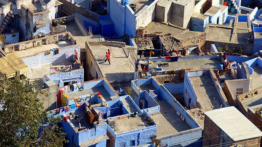 Terrazas azules del casco histórico de Jodhpur. Tom Maloney