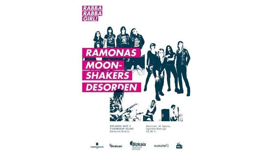 'Ramones', 'Moonshakers' y 'Desorden' abren el domingo en Bilbao el ciclo de música rock Rabba Rabba Girl!