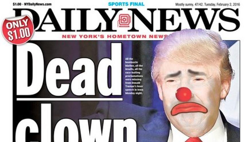 """El Daily News dedica su portada al """"payaso"""" Donald Trump"""