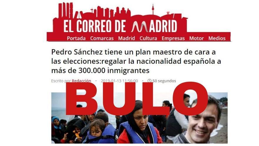 """No, Pedro Sánchez no ha regalado """"la nacionalidad a más de 300.000 inmigrantes"""" desde enero hasta las elecciones para ganar votos"""
