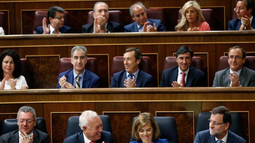 Bancada del PP en el Congreso de los Diputados