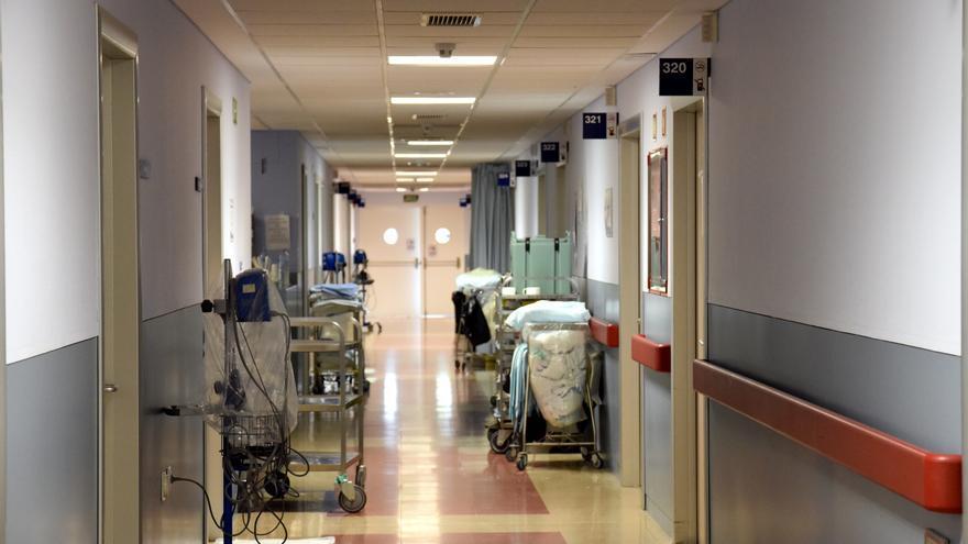 Un pasillo de un hospital de Toledo.