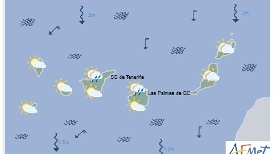 Mapa tiempo Canarias 20f