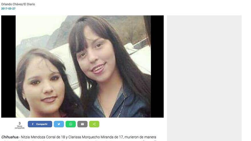 IMAGEN 4. A pesar de que la noticia del accidente de las dos mujeres jóvenes en Chínipas se publicó en medios internacionales, en Chihuahua no fue investigado por la Fiscalía del estado, tampoco por autoridades federales.