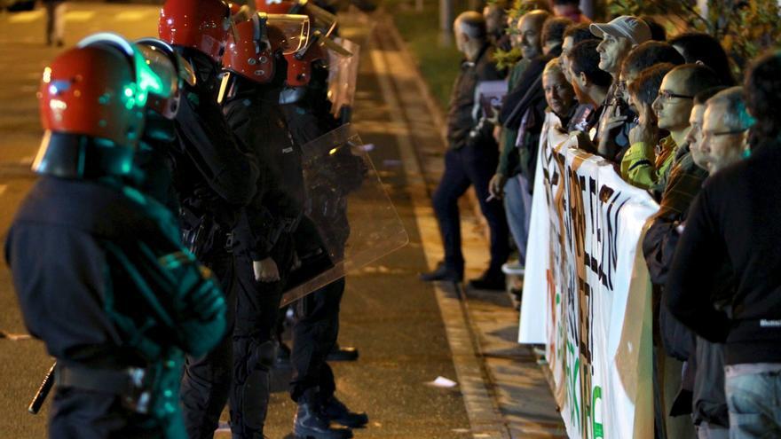 Un detenido y un herido en el País Vasco al comienzo de la huelga general