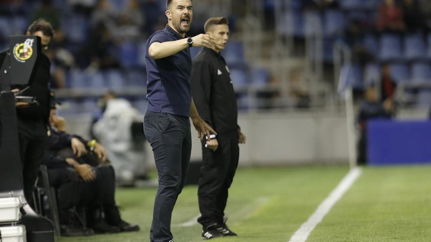 López Garai, en su último partido como entrenador del CD Tenerife