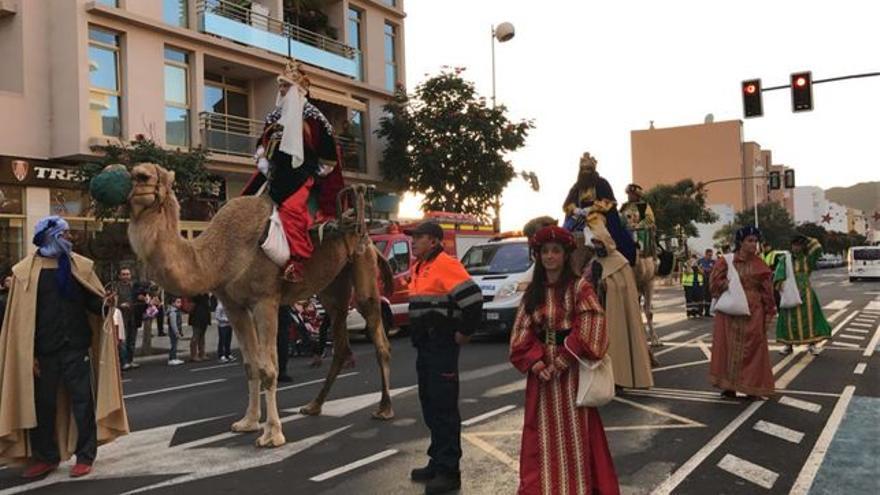 Cabalgata de los Reyes Magos de Los Llanos del pasado año.