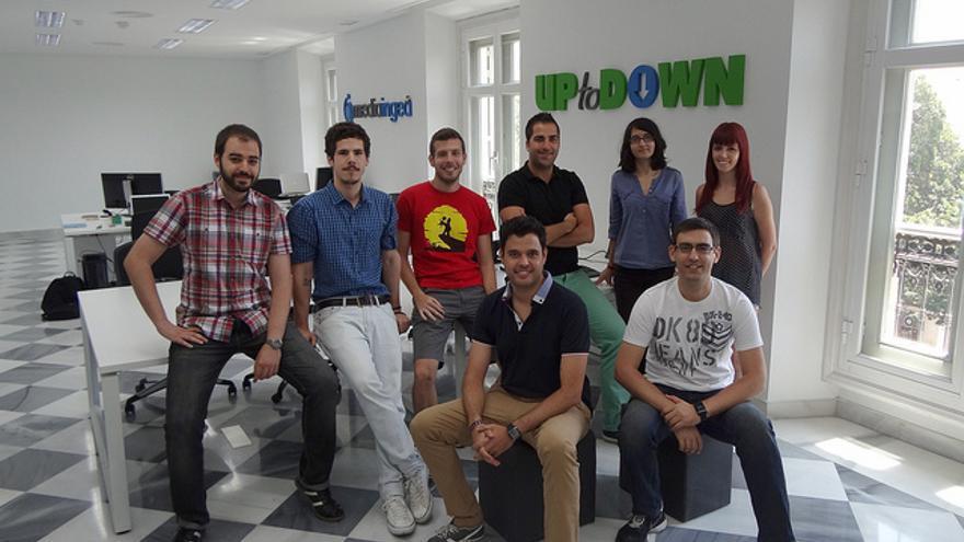 El equipo malagueño de Uptodown
