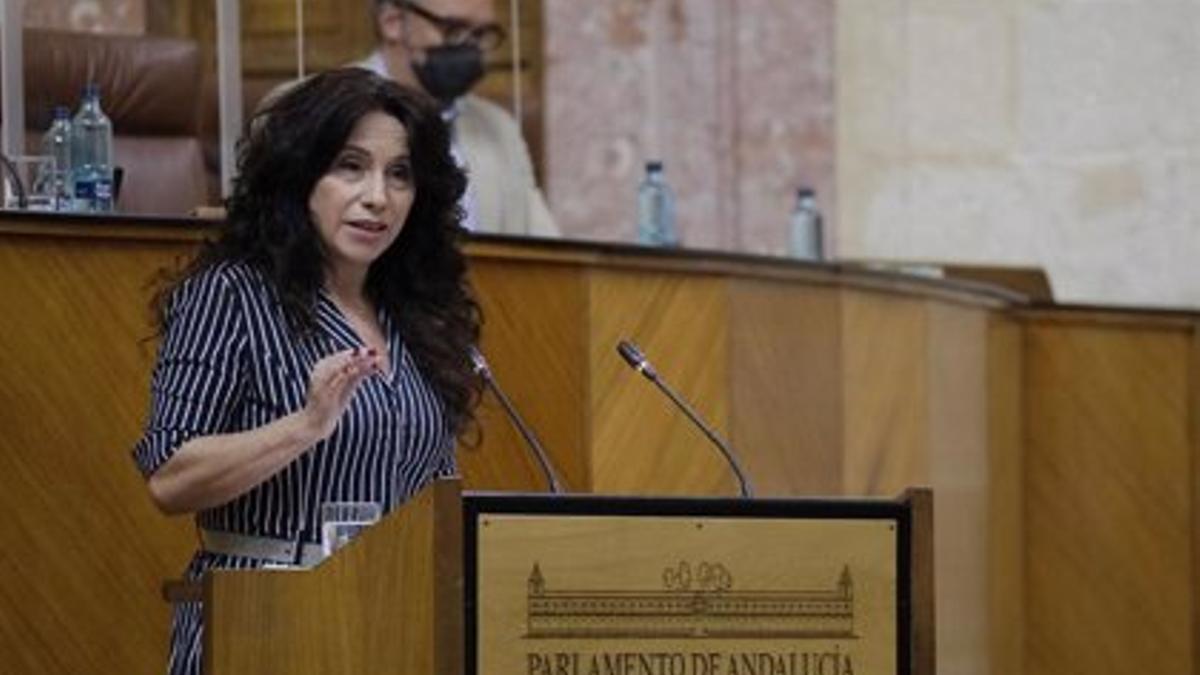 La consejera de Igualdad, Rocío Ruiz, en el Parlamento