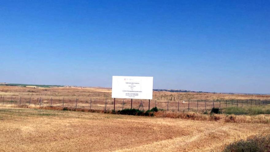 Terrenos previstos para el ATC en Villar de Cañas