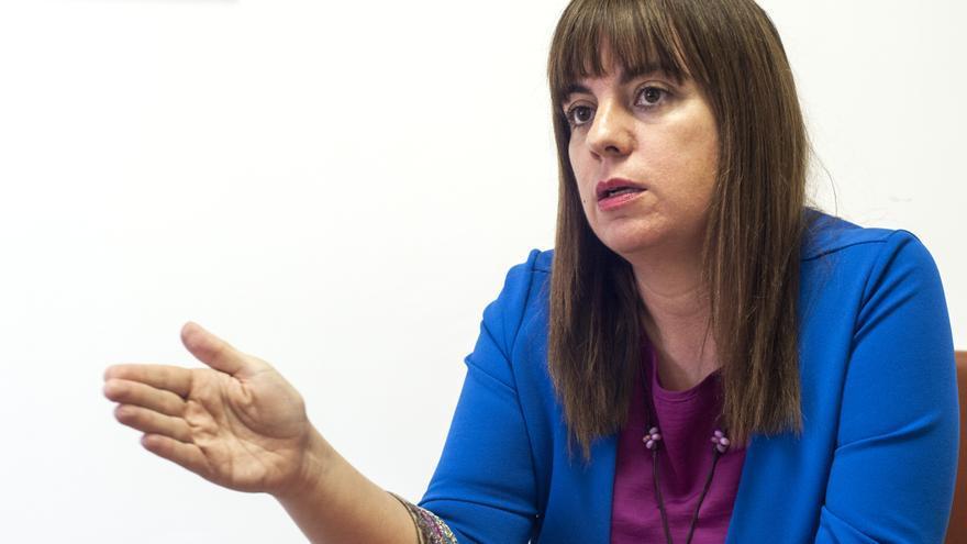 La portavoz socialista en el Parlamento de Cantabria, Silvia Abascal.   JOAQUÍN GÓMEZ SASTRE
