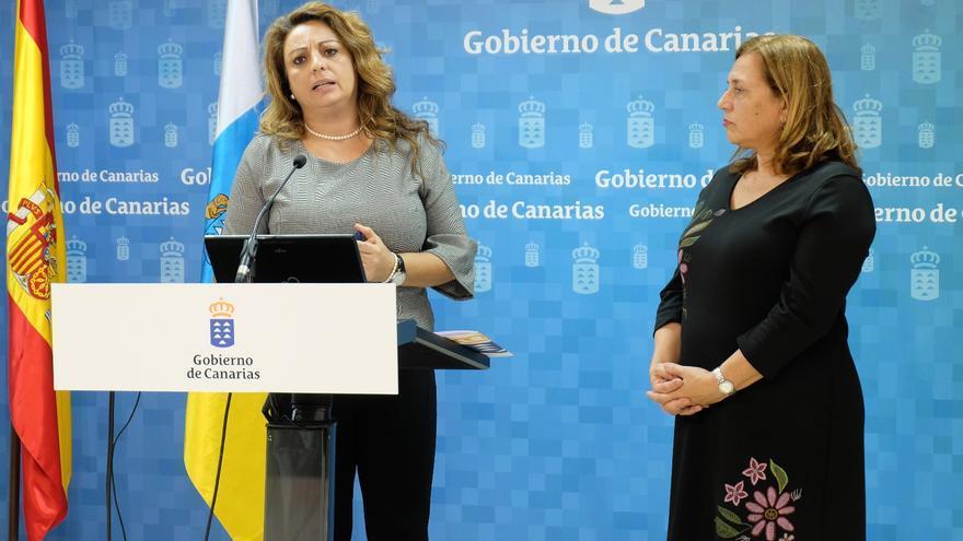 La consejera de Políticas Sociales, Cristina Valido, hace balance de la gestión de la Ley de dependencia.