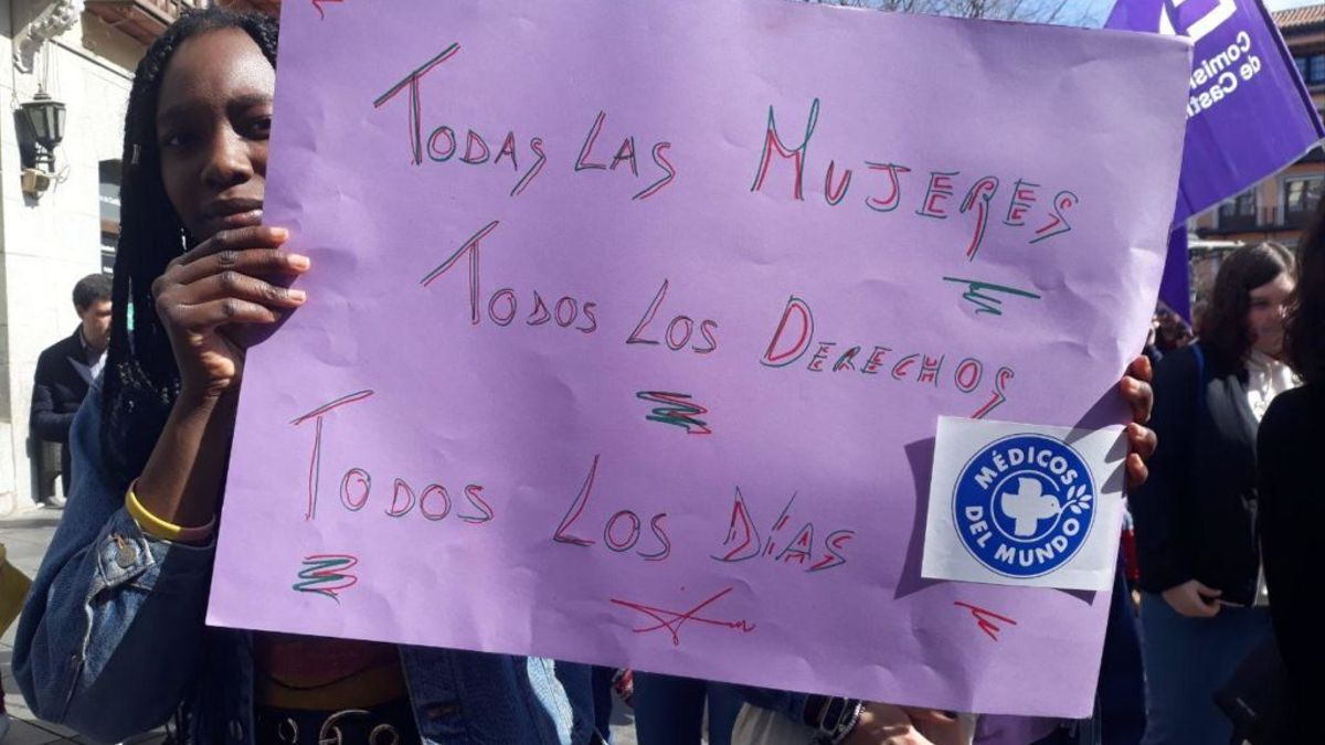 Imagen de archivo de una manifestación por el 8M en Zocodover, Toledo