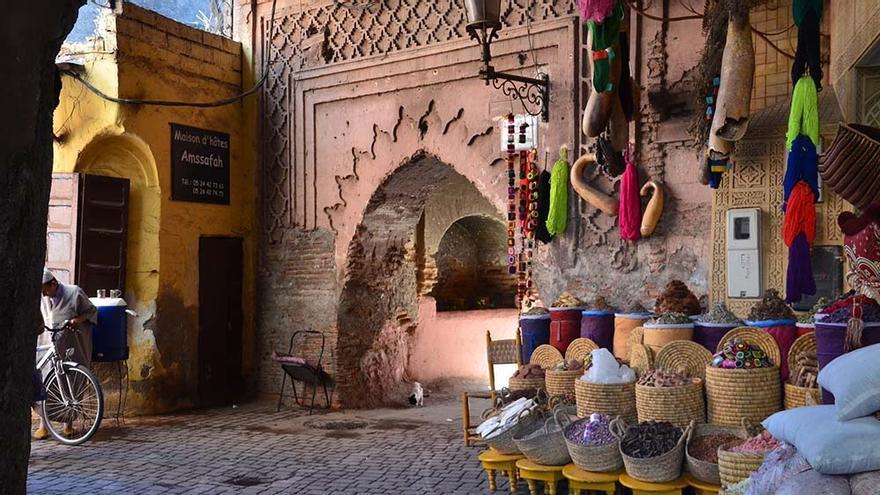 La medina de Marrakech, Marruecos