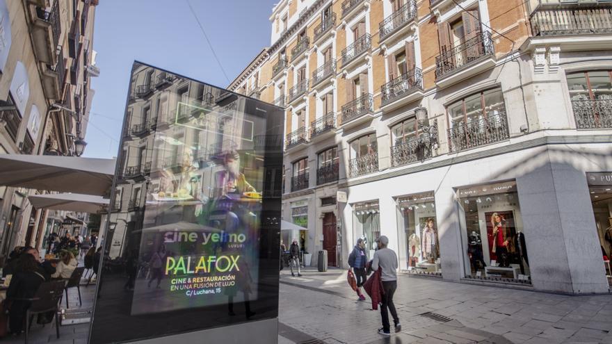 Marquesina calle Carmen Madrid Palafox