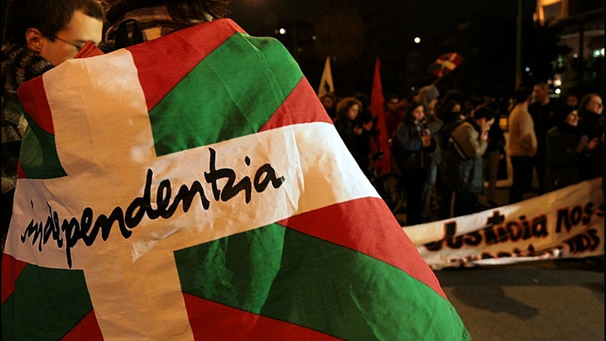 Manifestación nacionalista vasca