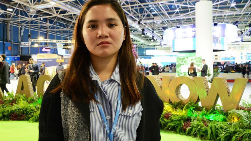 Marinel Sumook, en la COP25.