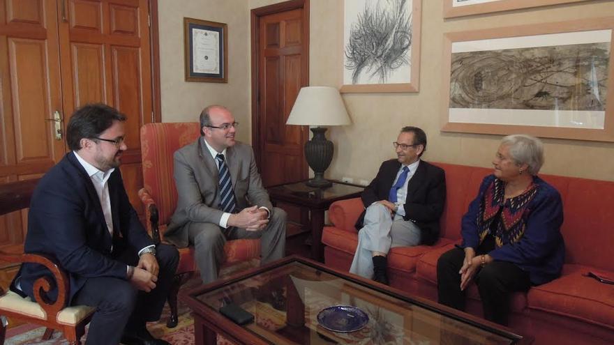 De izquierda a derecha: Asier Antona, Anselmo Pestana, Antonio Castro y María Victoria Hernández.