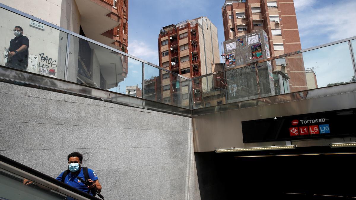 Parada de metro de la Torrassa, en l'Hospitalet de Llobregat
