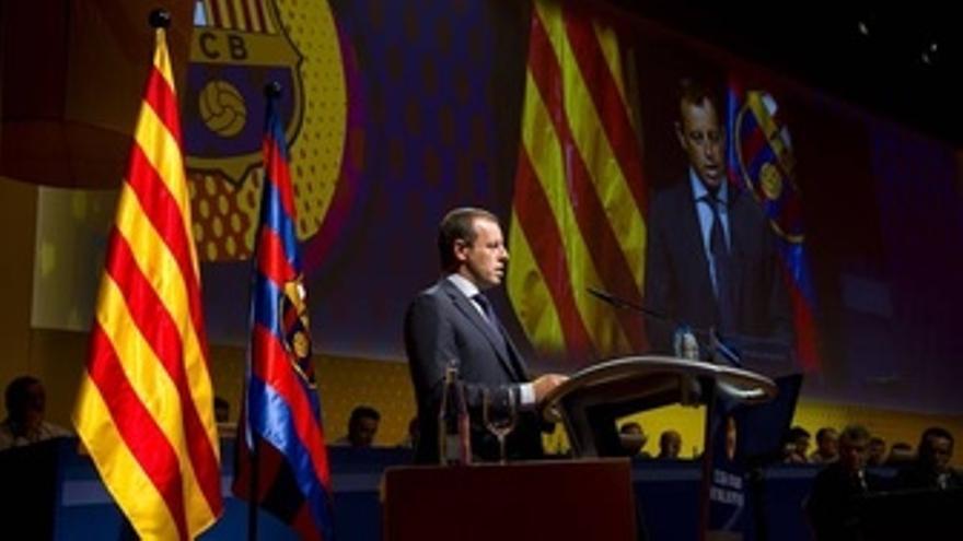 El Presidente Del FC Barcelona, Sandro Rosell