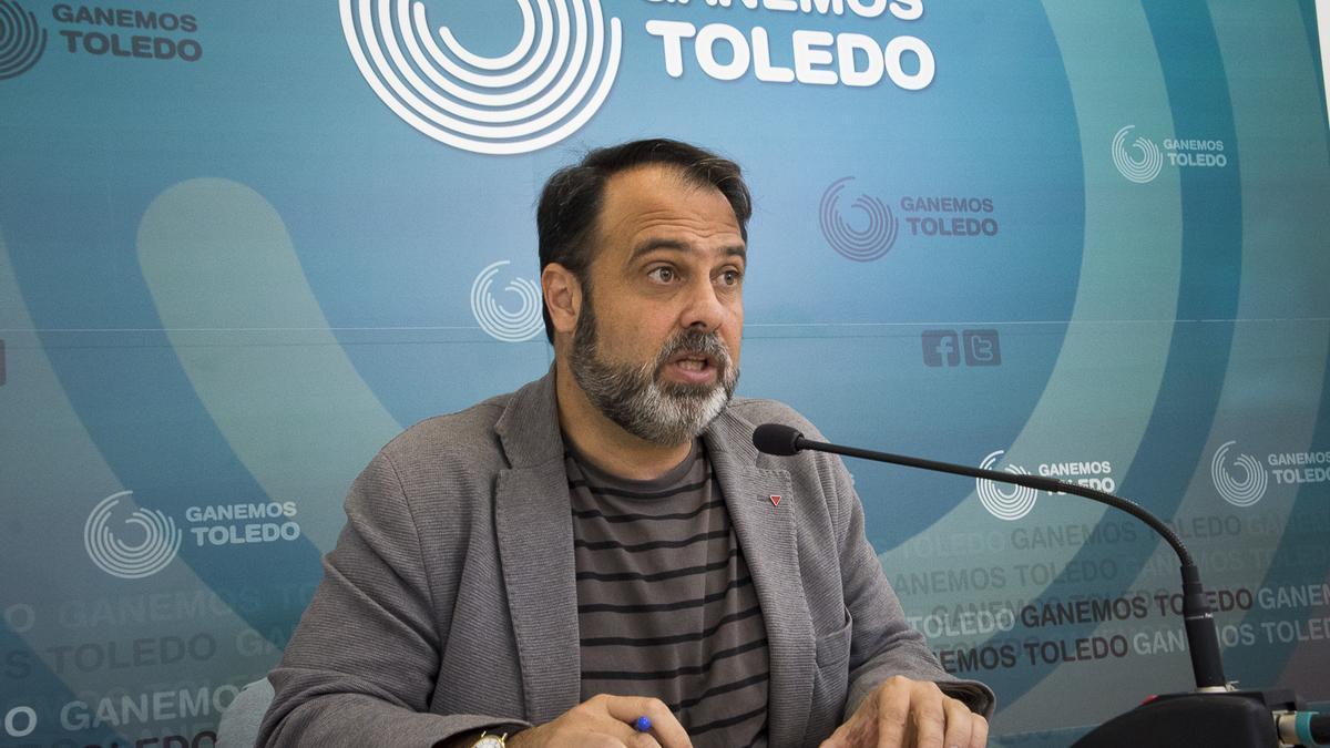 Javier Mateo, portavoz de Ganemos Toledo en una imagen de archivo