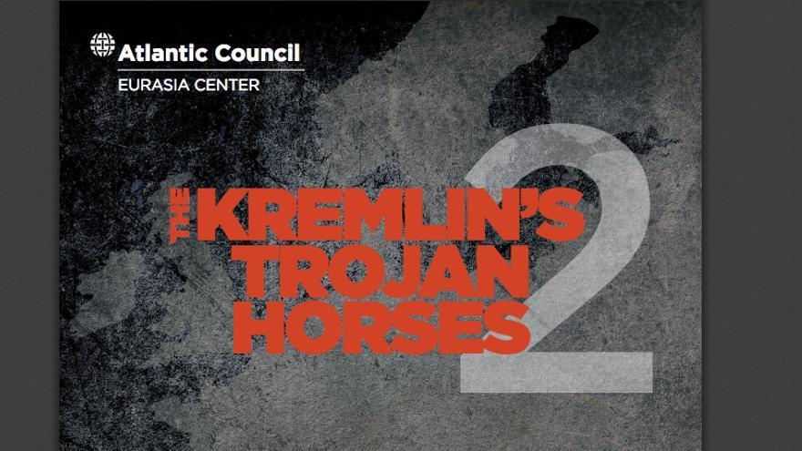 Portada del informe 'Los caballos de Troya del Kremlin', en el que se habla de la amenaza de injerencia rusa en España, editado por el Atlantic Council.