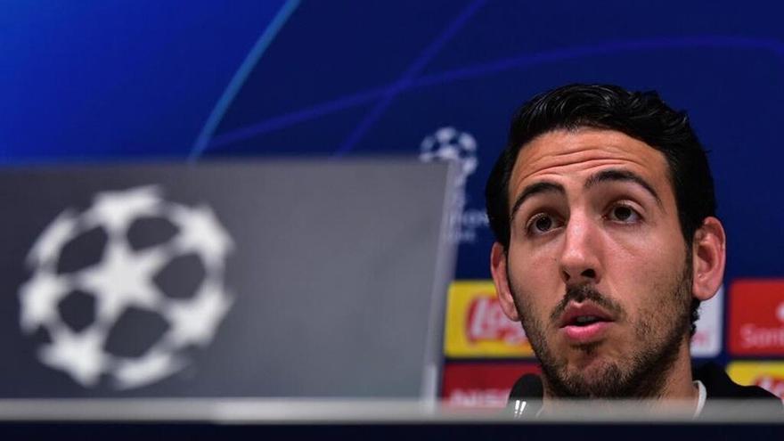 El capitán del Valencia CF, Dani Parejo, en rueda de prensa.