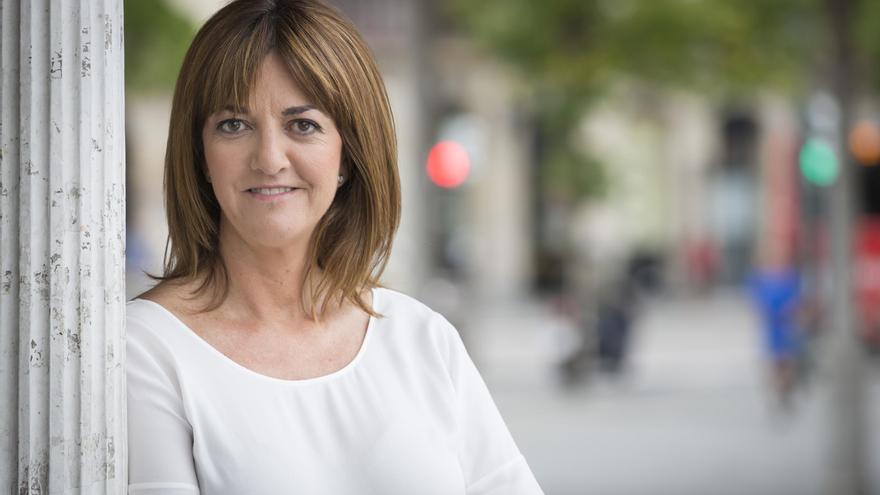 La candidata socialista Idoia Mendia