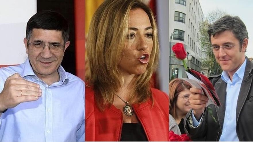Patxi López, Carmen Chacón y Eduardo Madina