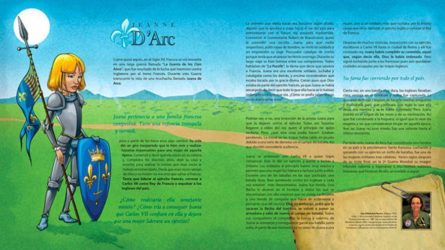 Uno de los relatos de La Liga de las Mujeres Extraordinarias, dedicado a Juana de Arco.