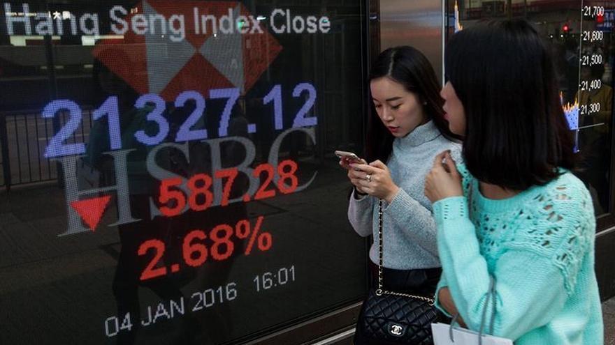 La Bolsa de Hong Kong cae en la apertura un 1,29%